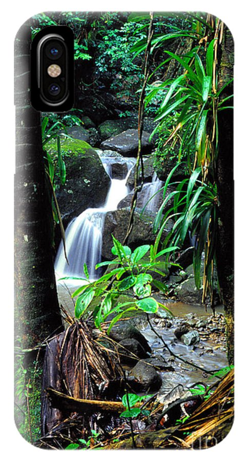 Puerto Rico IPhone X Case featuring the photograph Waterfall El Yunque National Forest by Thomas R Fletcher
