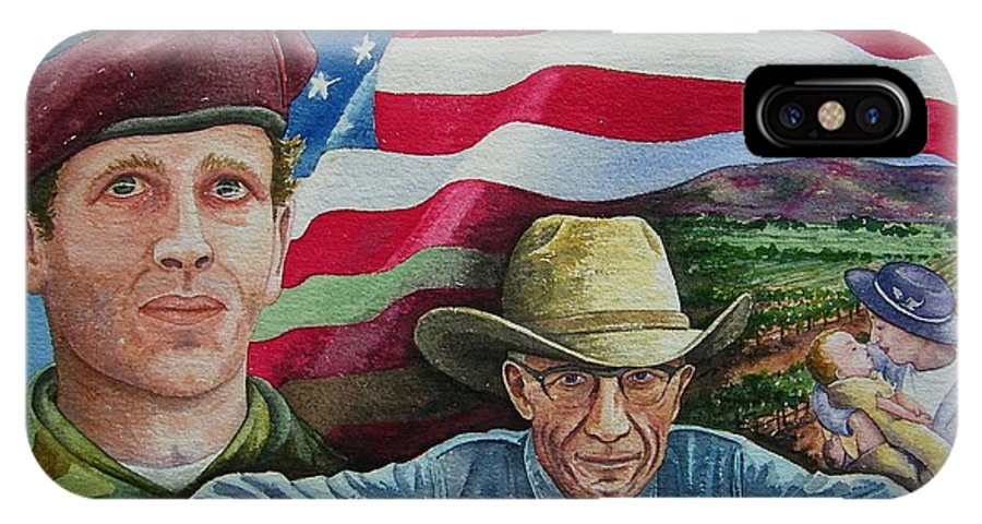 Soldier IPhone X Case featuring the painting We Hold These Truths by Gale Cochran-Smith