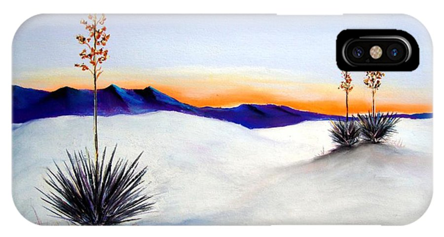 White Sands IPhone X Case featuring the painting White Sands by Melinda Etzold