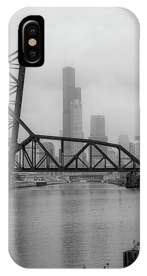 Chicago IPhone X Case featuring the photograph Willis Tower In Fog by Anthony Doudt