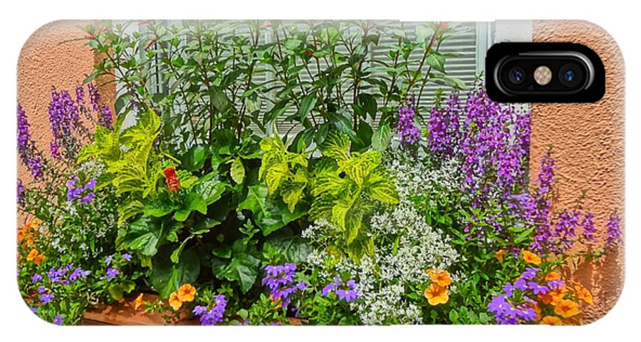 Flowers IPhone X Case featuring the photograph Window Box Blooms by Susan Bryant