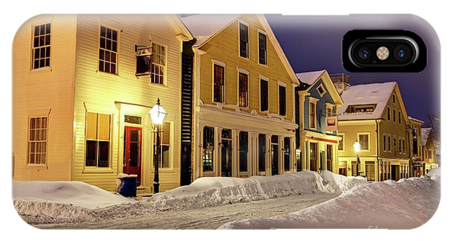 New Bedford IPhone X Case featuring the photograph Winter In Historic Downtown New Bedford by Denis Tangney Jr