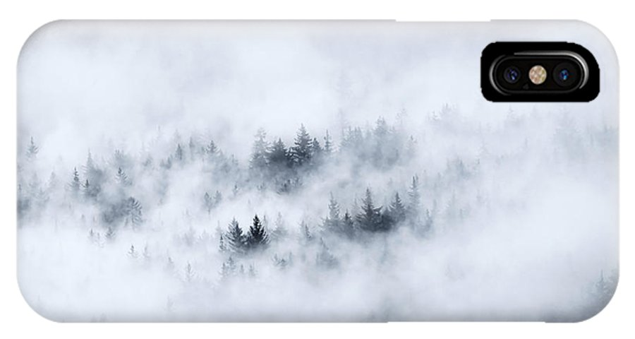 Fog IPhone X Case featuring the photograph Winter Dawning by Mike Dawson