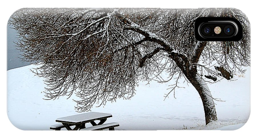 Winter IPhone X / XS Case featuring the photograph Winter Picnic by Roland Stanke