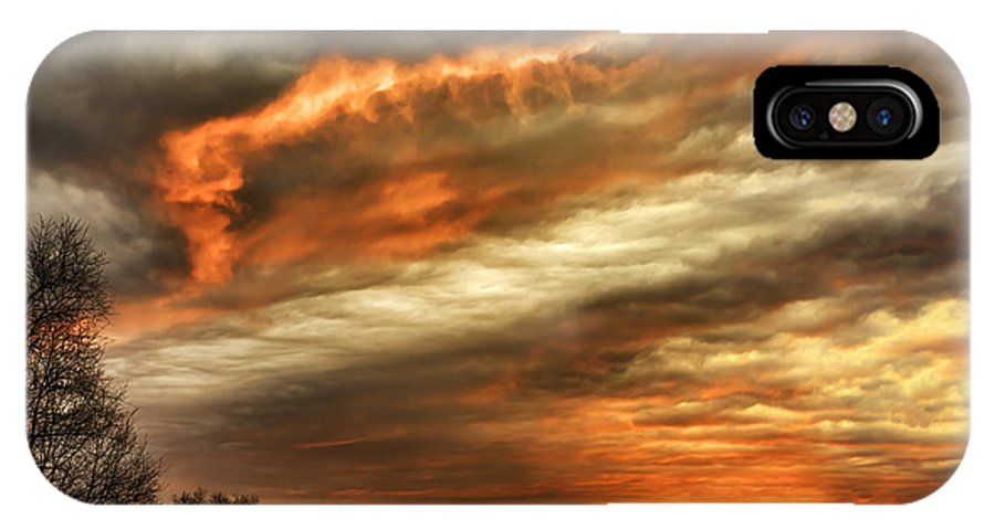 Usa IPhone X / XS Case featuring the photograph Winter Sunrise Drama by Thomas R Fletcher