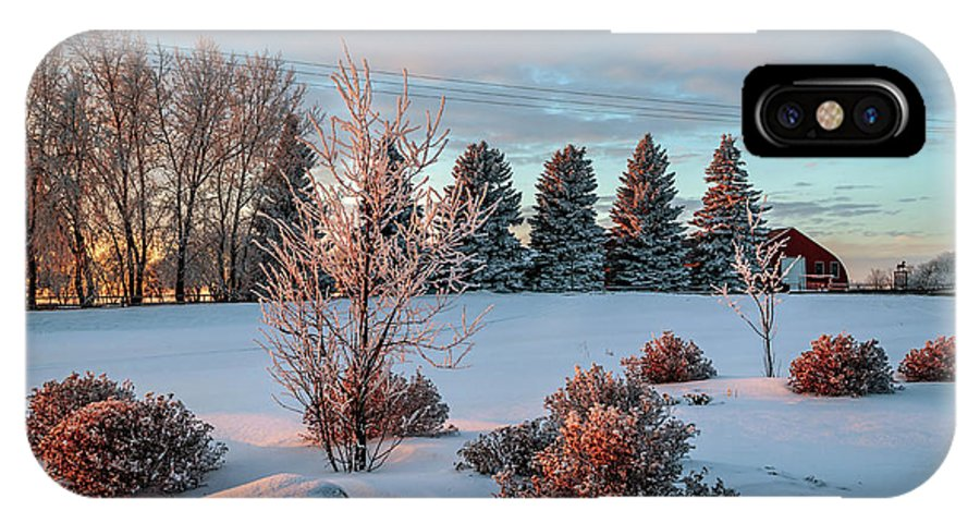 Winter IPhone X Case featuring the photograph Winter Sunset In Weyburn by Viktor Birkus