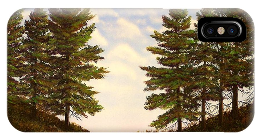 Wooded Path IPhone X Case featuring the painting Wooded Path by Frank Wilson