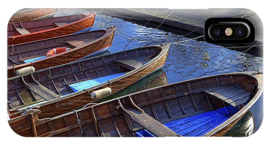 Boat IPhone X Case featuring the photograph Wooden Boats by Joana Kruse