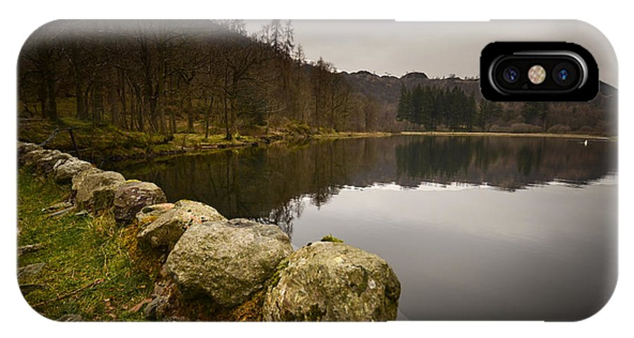 Yew Tree Tarn IPhone X / XS Case featuring the photograph Yew Tree Tarn by Smart Aviation