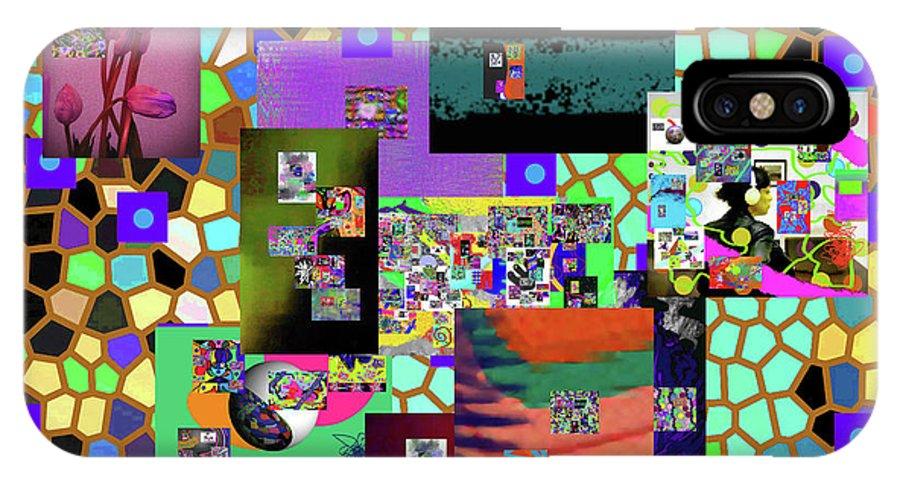 Walter Paul Bebirian IPhone X Case featuring the digital art 10-4-2016b by Walter Paul Bebirian