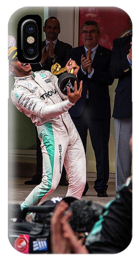 Monaco IPhone X Case featuring the photograph Lewis Hamilton by Srdjan Petrovic