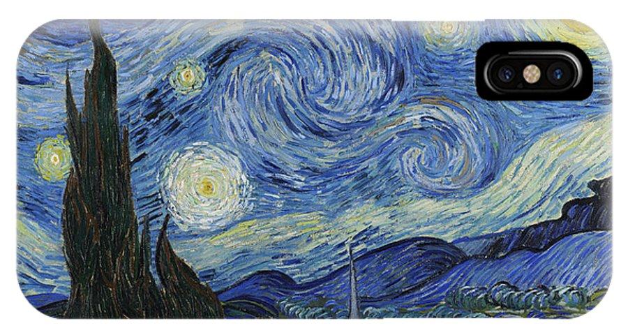 Vincent Van Gogh IPhone X Case featuring the painting The Starry Night by Vincent Van Gogh