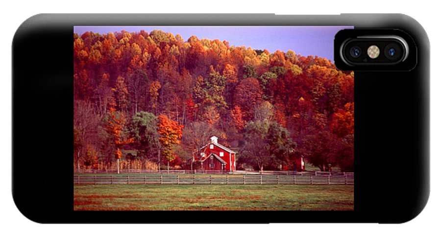 Autumn IPhone Case featuring the photograph 102701-16 by Mike Davis