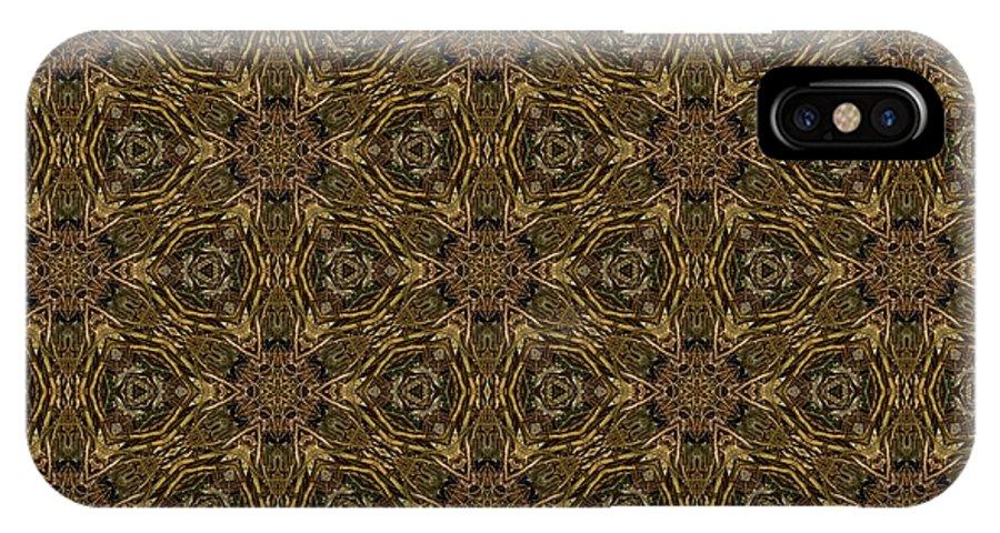 Marjan Mencin IPhone X Case featuring the digital art Arabesque 017 by Marjan Mencin