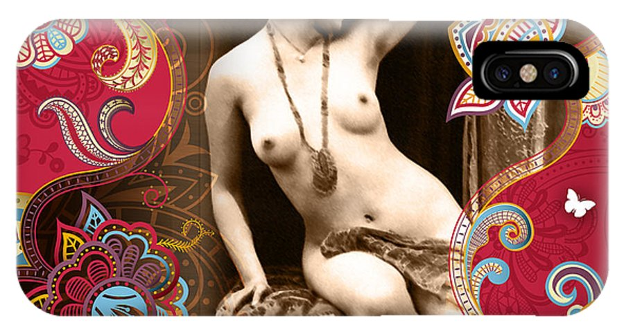 Erotic IPhone X Case featuring the photograph Goddess by Chris Andruskiewicz