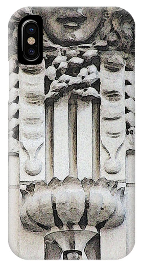 Architecture Embellishments IPhone X Case featuring the photograph Embellishment Series by Ginger Geftakys