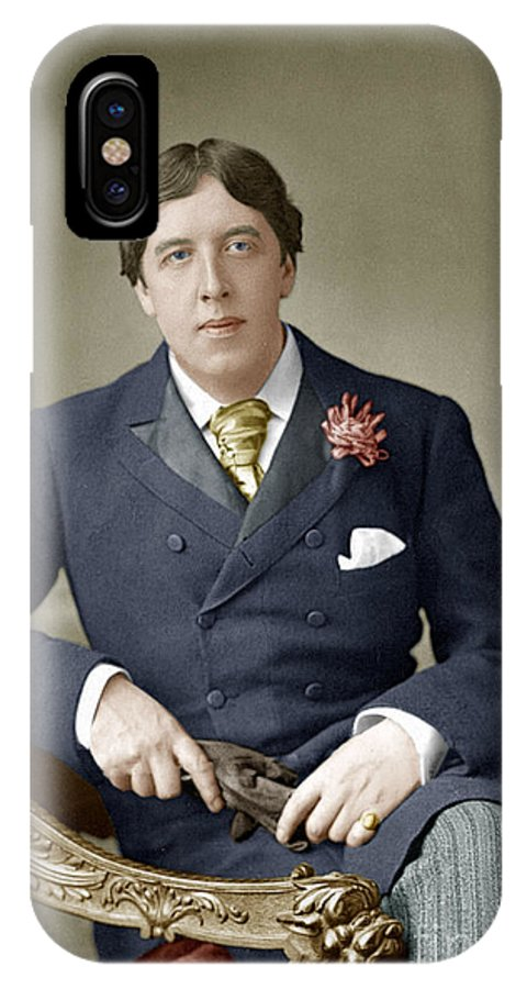 1889 IPhone X Case featuring the photograph Oscar Wilde (1854-1900) by Granger