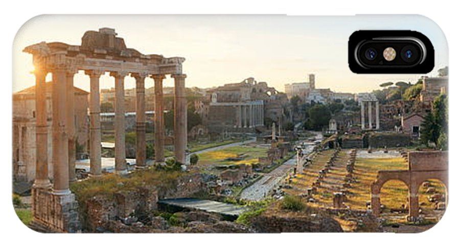 Rome IPhone X Case featuring the photograph Rome Forum by Songquan Deng