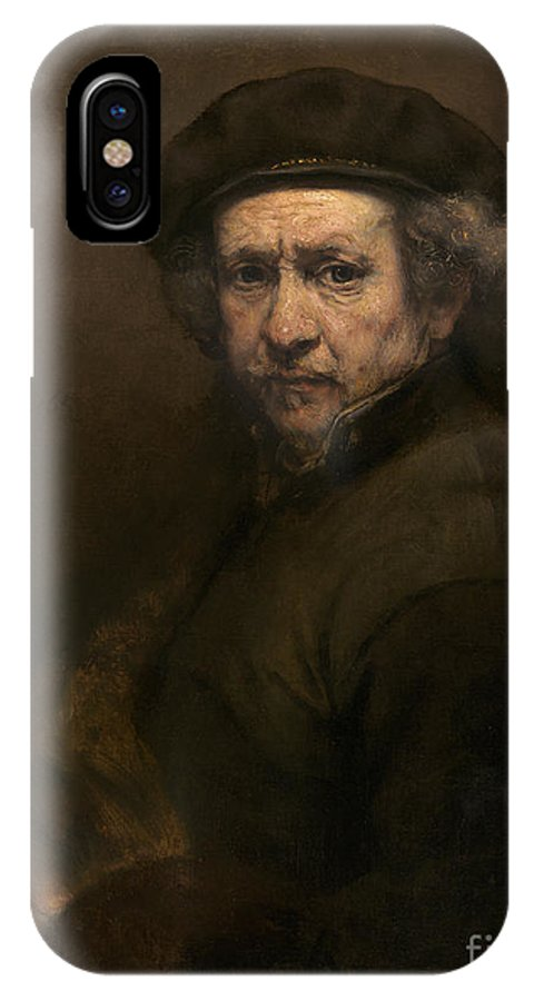 IPhone X Case featuring the painting Self-portrait by Rembrandt Van Rijn
