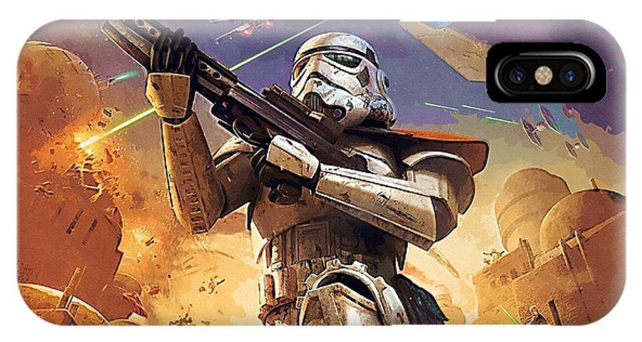 Sith Star Wars IPhone X Case featuring the digital art Star Wars Saga Poster by Larry Jones
