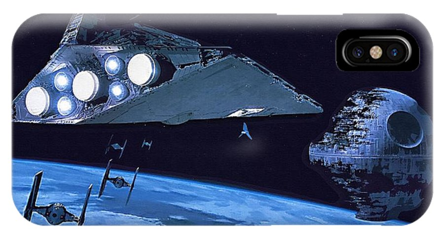 Star Wars Series IPhone X Case featuring the digital art Star Wars The Poster by Larry Jones
