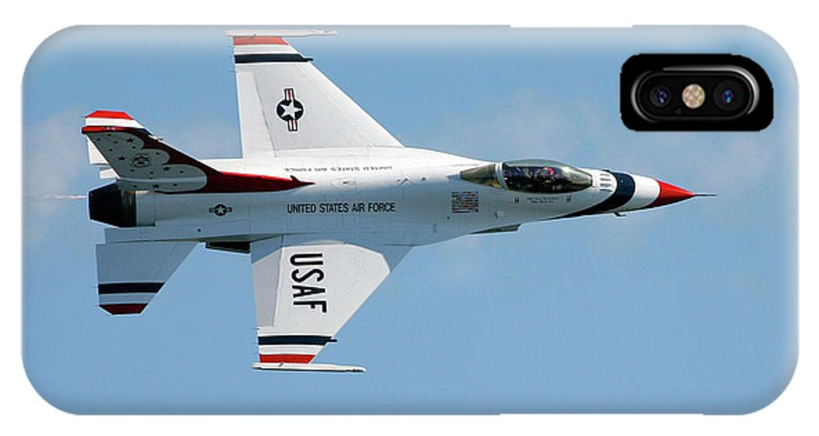 United States Air Force IPhone X Case featuring the photograph Usaf Thunderbirds by Victor Alcorn