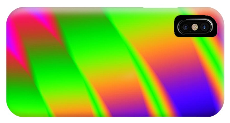 Neon IPhone X Case featuring the digital art 110 In The Shade by Kevin Caudill