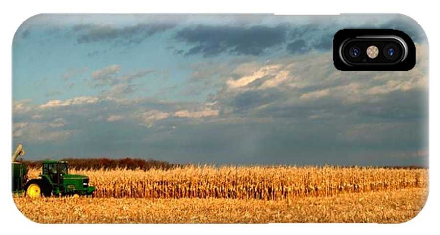 Farm IPhone X Case featuring the photograph 110509-35  Harvest Time by Mike Davis