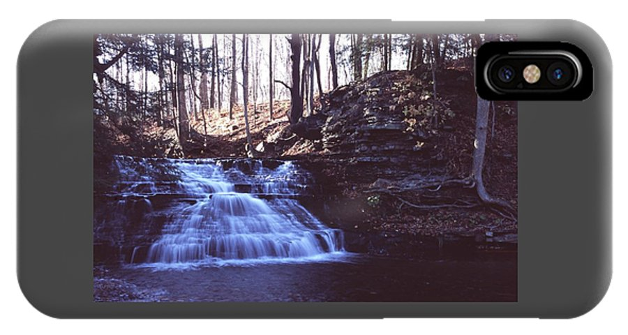 Waterfall IPhone Case featuring the photograph 111401-4 by Mike Davis