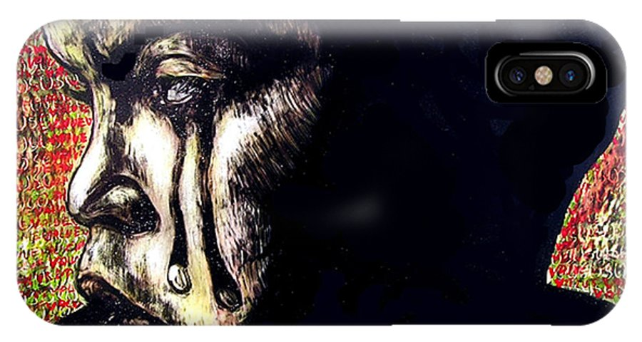 IPhone X / XS Case featuring the mixed media 1140 by Chester Elmore