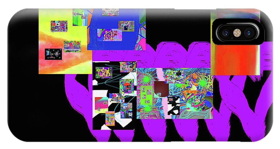 Walter Paul Bebirian IPhone X Case featuring the digital art 12-26-2016f by Walter Paul Bebirian