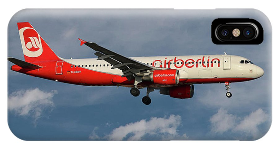 Air Berlin IPhone X Case featuring the photograph Air Berlin Airbus A320-214 by Smart Aviation