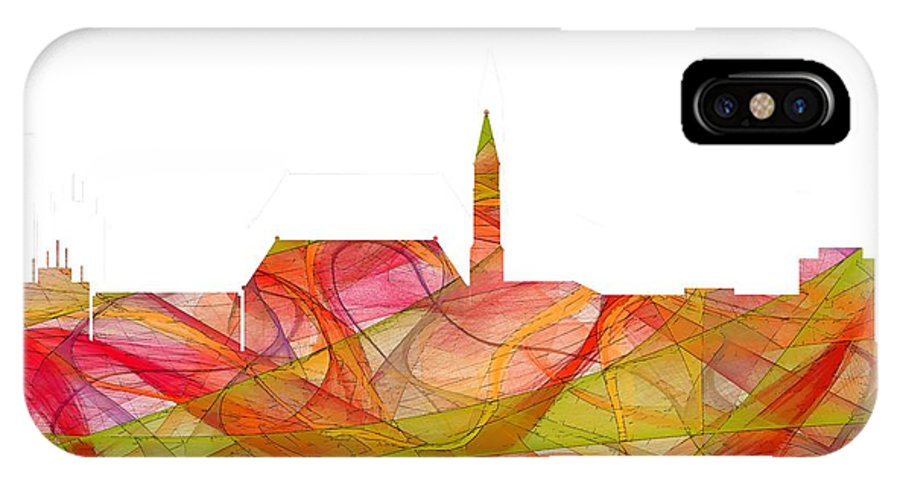 Cheyenne Wyoming Skylineskyline IPhone X Case featuring the digital art Cheyenne Wyoming Skyline by Marlene Watson
