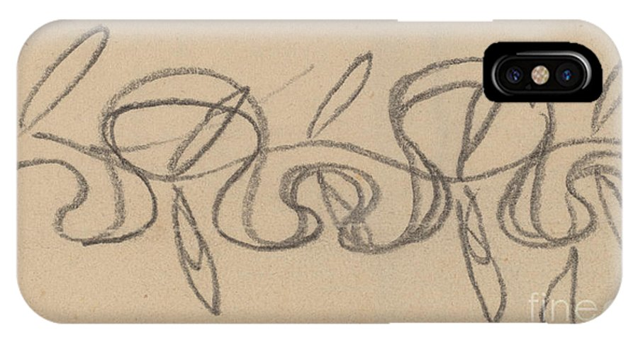 IPhone X Case featuring the drawing Study For A Border Design by Charles Sprague Pearce