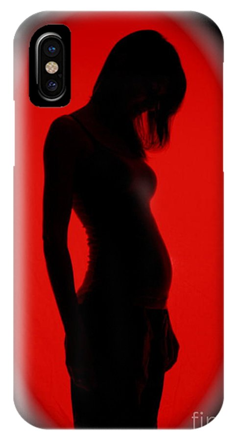 Maternity IPhone X Case featuring the photograph 12 Weeks by Rick Monyahan