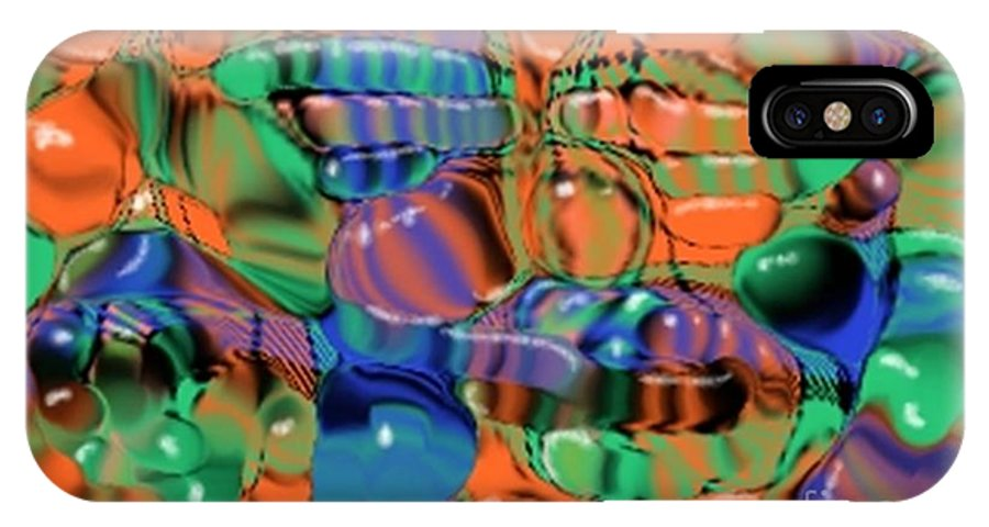 Abstract IPhone X Case featuring the digital art 1297exp1 by Ron Bissett