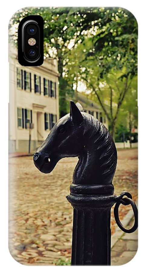 Nantucket IPhone X Case featuring the photograph Nantucket Hitching Post by JAMART Photography