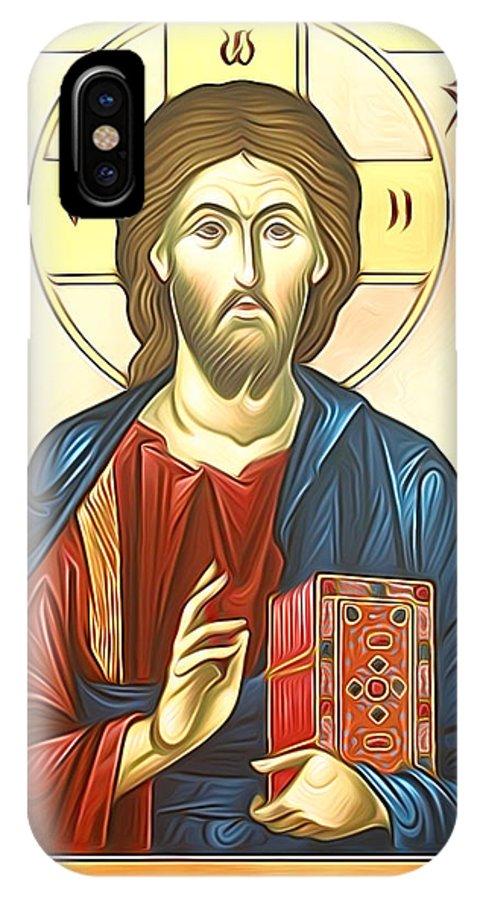 Jesus IPhone X Case featuring the digital art Jesus Christ by Carol Jackson