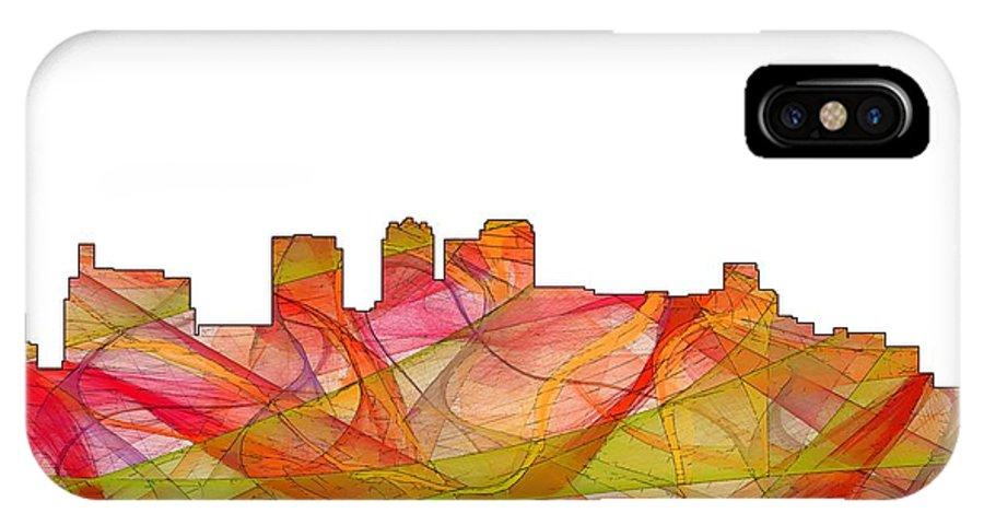Birmingham Alabama Skylineskyline IPhone X Case featuring the digital art Birmingham Alabama Skyline by Marlene Watson