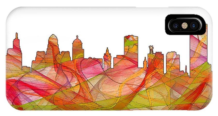 Buffalo New York Skylineskyline IPhone X Case featuring the digital art Buffalo New York Skyline by Marlene Watson