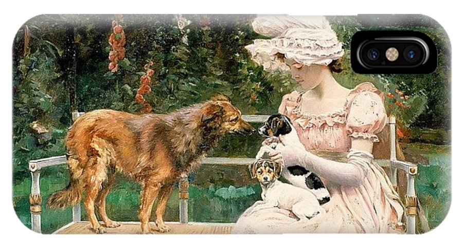 Terrier IPhone X Case featuring the digital art Charles Henry Tenre by Eloisa Mannion
