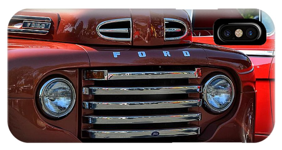Red IPhone X Case featuring the photograph Classic Ford Pickup by Dean Ferreira