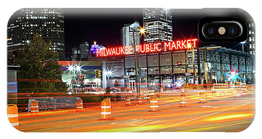Milwaukee IPhone X Case featuring the photograph 1405 Milwaukee Public Market by Steve Sturgill