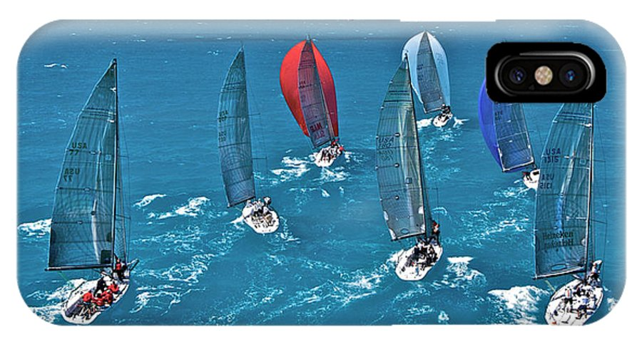 Miami IPhone X Case featuring the photograph Miami Regatta by Steven Lapkin
