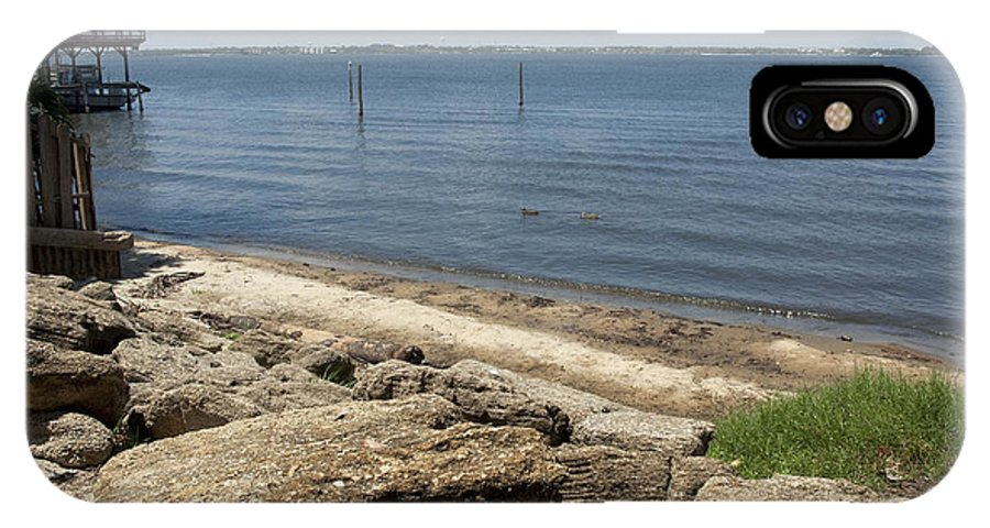 Riverfront IPhone X Case featuring the photograph Indian River Lagoon by Allan Hughes