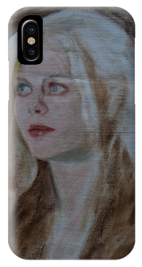 Figure IPhone X Case featuring the painting 15 Minutes Of Fame by Horacio Prada