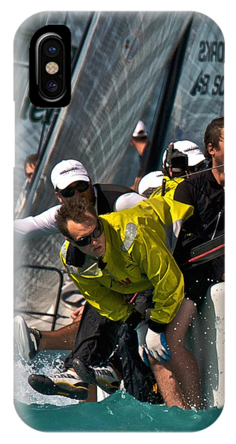 Regatta IPhone X Case featuring the photograph Regatta Action by Steven Lapkin