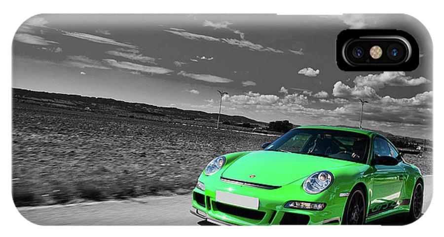 Porsche IPhone X Case featuring the digital art 15876 Porsche by Mery Moon