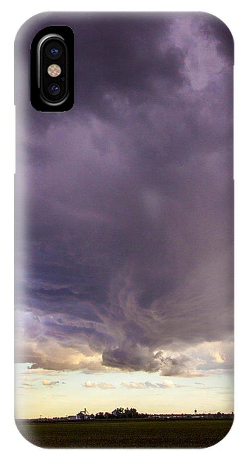 Nebraskasc IPhone X Case featuring the photograph Afternoon Nebraska Thunderstorm by Dale Kaminski