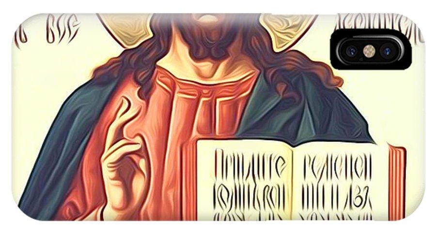 Jesus IPhone X Case featuring the photograph Jesus Christ Catholic Art by Carol Jackson